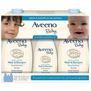Aveeno Baby Wash & Shampoo Value Pack (2 -18 fl. oz, 1 - 8 fl. oz.)