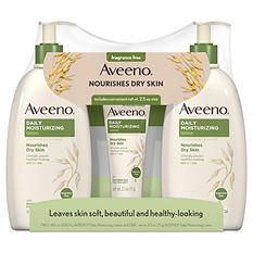 Aveeno Daily Moisturizing Lotion (2 - 18 fl. oz., 1 - 2.5 oz.)