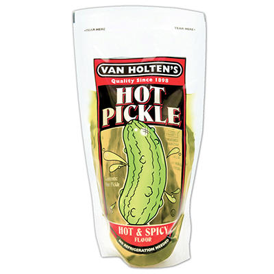 Van Holte Jumbo Hot Pickles - 12 ct.