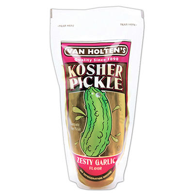 Van Holte Jumbo Kosher Pickles - 12 ct. case