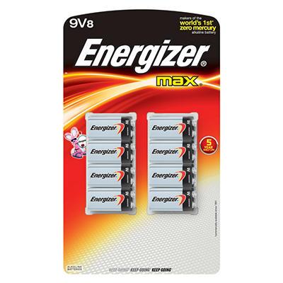 Energizer Max 9V - 8 Pack Batteries