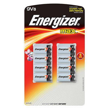 Energizer Max 9V - 8 Pack Batteries