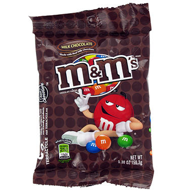 M&M's Milk Chocolate Candies (5.3 oz. bag, 12 ct.)