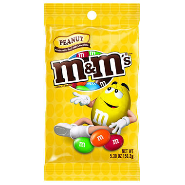 M&M's Peanut Milk Chocolate Candies (5.3 oz. bag, 12 ct.)