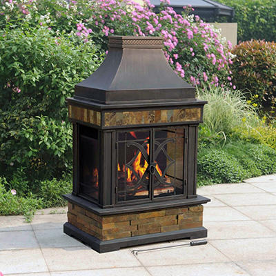 Sunjoy Heirloom Slate Fireplace