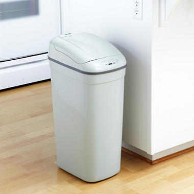 Nine Stars Sensor Trash Can - Grey Plastic - 8.7 gal.
