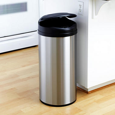 Nine Stars Sensor Trash Can - Stainless Steel - 13 gal.