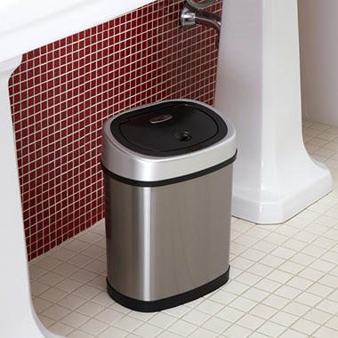 Nine Stars Sensor Trash Can - Stainless Steel - 3.2 gal.