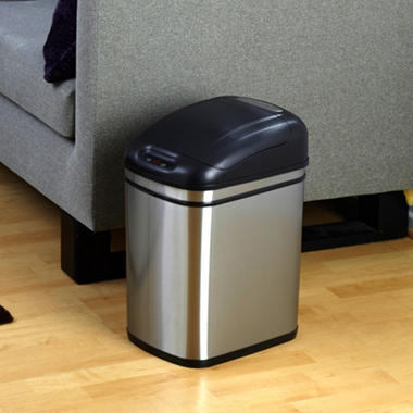 Nine Stars Sensor Trash Can - Stainless Steel - 6.3 Gallons