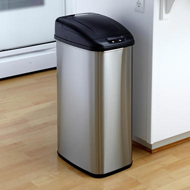 Nine Stars Sensor Trash Can - Stainless Steel - 13.2 gal.