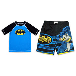 Boys' Rashguard 2-Piece Swim Trunk Set (Assorted Characters)