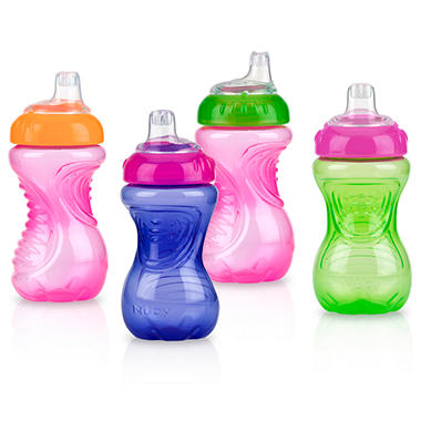 Nuby Soft Spout Easy Grip Sippy Cup - Girls - 4 pk.