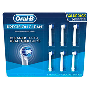 Oral-B Replacement Brush Heads, Precision Clean (6 ct.)