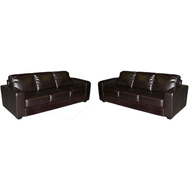 Dawson Genoa Leather Sofas - 2 pc.