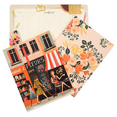 Rifle Paper Co. Everyday Notebooks & Weekly Desk Pad Bundle, Parisian