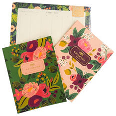 Rifle Paper Co. Everyday Notebook & Weekly Desk Pad Bundle, Vintage Blossoms