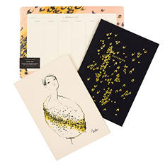 Rifle Paper Co. Everyday Notebooks & Weekly Desk Pad Bundle, Leopard