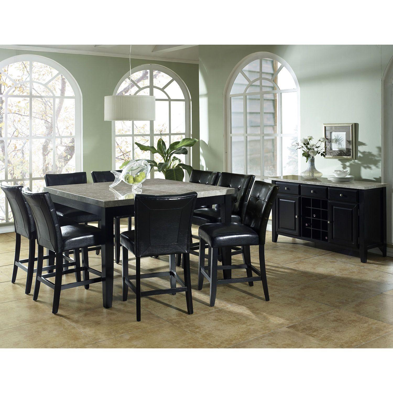 table chair dining set 5 pc modern wood oak furniture