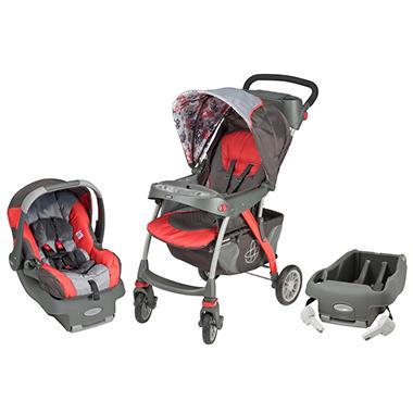 Evenflo Euro Trek Travel System with Extra Base - Spheres - Free Standard Shipping
