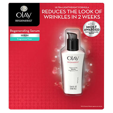 Olay Regenerist Serum, Fragrance Free - 3.4 oz.