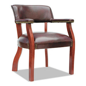 Alera Traditional Series Guest Arm Chair, Mahogany