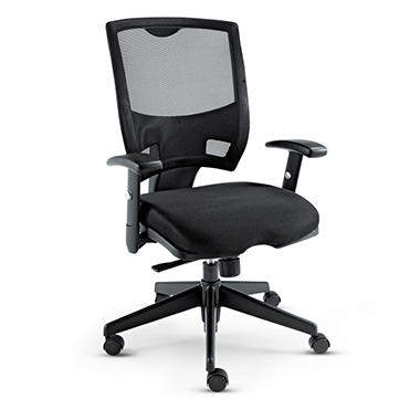 Alera - Epoch Series Mesh Mid-Back Swivel / Tilt Chair - Black