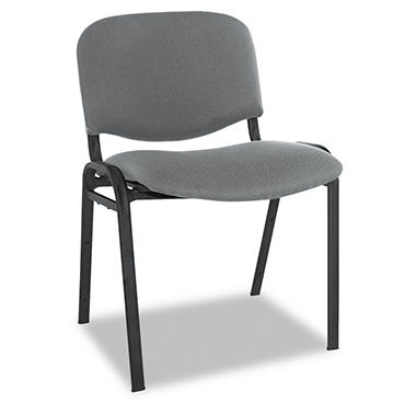 Alera - Reception-Style Stacking Chairs - Gray - 4 Pack