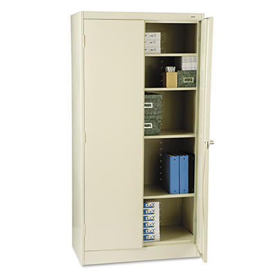 "Tennsco - Standard Storage Cabinet, 4-Shelf, 72"" High - Various Colors"