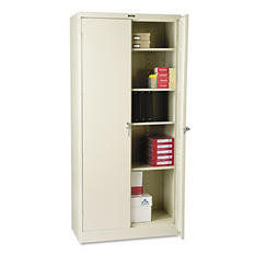 "Tennsco 36 x 18"" 4-Shelf Deluxe Storage Cabinet, Putty"