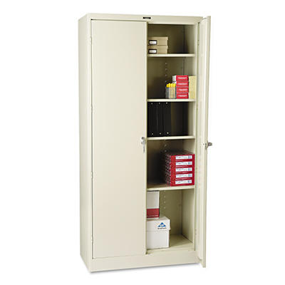"Tennsco - Deluxe Storage Cabinet, 36 x 18"", 4 Shelves - Putty"