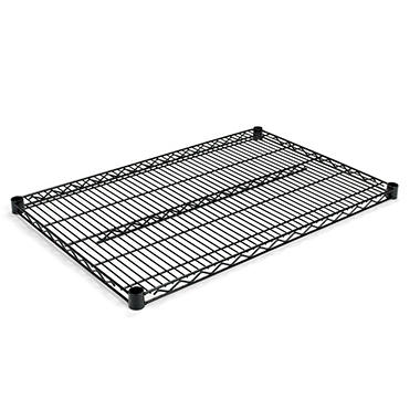 "Alera - Extra Shelves for Wire Shelving Units, 36 x 24"", Black - 2 Pack"