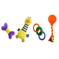Zany Bunch Dog Toys, 4 pk. (Choose Your Color)