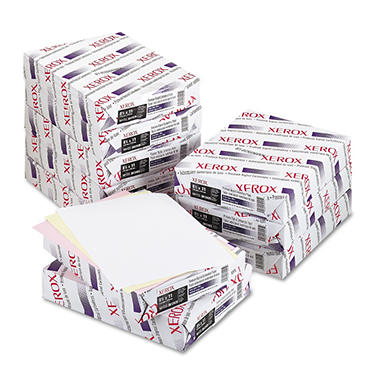 Xerox® Bold Digital Carbonless Paper, 8 1/2 x 11, White/Canary/Pink, 5,000 Sheets