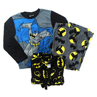 Kids Plush Robe & Fleece Pajamas 2-Piece Set (Assorted Styles)
