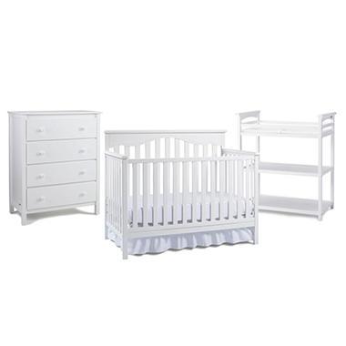 Fisher Price Baby Furniture Bundle, White (3 pc.)