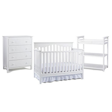 Fisher Price Baby Furniture Bundle, White (3 pc.)