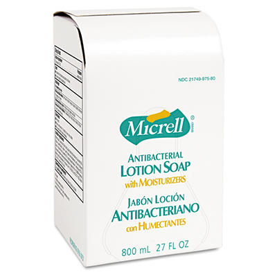 Micrell Antibacterial Lotion Soap Refill - 800 mL - 12 bags