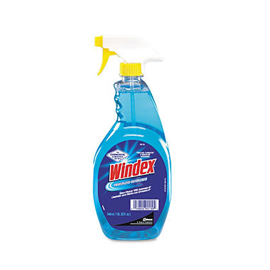 Windex Powerized Formula Glass & Surface Cleaner - 32 oz. Trigger Bottle - 12 ct.
