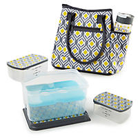 Fit & Fresh Asheville Insulated Lunch Bag Kit with Tritan Water Bottle