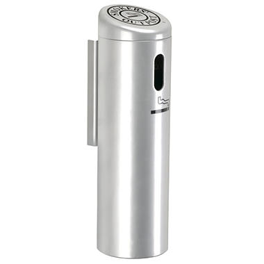 Wall Mounted Cigarette Receptacle - Silver