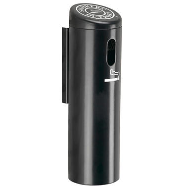 Wall Mounted Cigarette Receptacle - Black