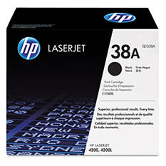 HP 38A Original Laser Jet Toner Cartridge, Black, (12,000 Page Yield)
