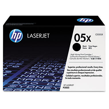 HP 05X Original Laser Jet Toner Cartridge, Black, Select Type (6,500 Yield)