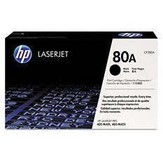 HP 80 Original Laser Jet Toner Cartridge, Black, Select Type