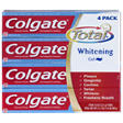 Colgate Total Whitening Toothpaste, Gel - 7.8 oz. - 4 pk.