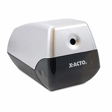X-ACTO - Model 1900 Desktop Electric Pencil Sharpener - Silver/Black