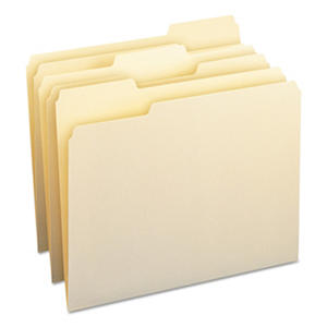 Smead 1/3 Cut Assorted Positions File Folders, Letter, Manila, 100ct.