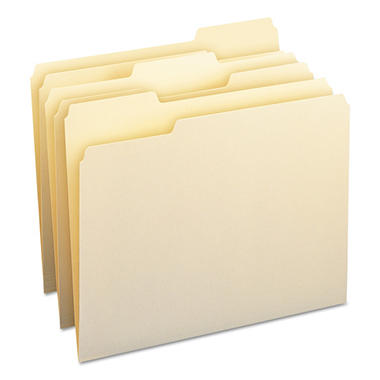 Smead 1/3 Cut Tab File Folders, Manila (Letter, 100 ct.)
