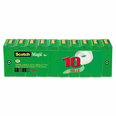 "Scotch - Magic Tape Value Pack, 3/4"" x 1000"", 1"" Core - 10 ct."