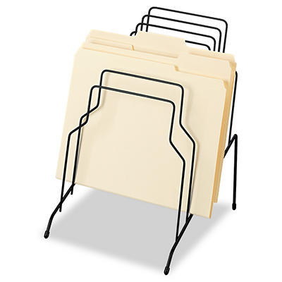 "Fellowes - Step File, Eight Sections, Wire, 10 1/8"" x 12 1/8"" x 11 7/8"" - Black"